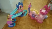 Little People two Princess Castle and carriage plus accessories Toronto, M9A 4M6