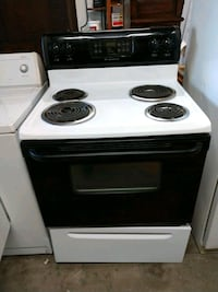 white and black electric coil range oven Tampa, 33609