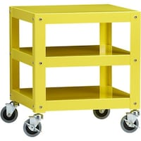 CB2 Go-Cart Rolling Table in Yellow San Francisco, 94117