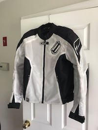 Shift Motorcycle Riding Jacket - White Black  - Size M Hudson, 03051