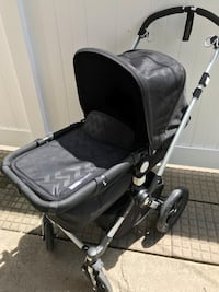 Bugaboo Cameleon 3 Limited Edition Intense Black with Shiny Chevron Seat Fabric Chicago, 60638