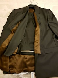 black and brown button-up jacket L