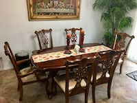 brown wooden dining table set Lancaster, 93534