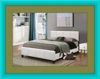 White platform bed with mattress box delivery  Crofton
