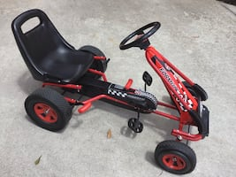 Perfect Costway 4 Wheels FORMULE 1 Pedal Car, RED