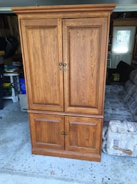 Brown wooden armoire Mississauga, L4Y 2G5
