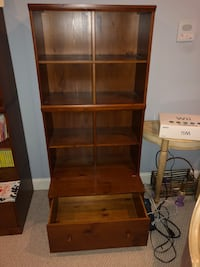 Pottery Barn Wooden shelf w drawers Germantown, 20874