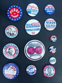 Presidential candidate buttons  Santa Maria, 93454