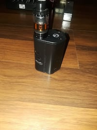 black variable box mod with tank atomizer