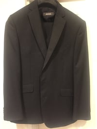 black notch-lapel suit jacket