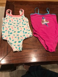 2 Swimming suits for 6 years girls for 100 nok Oslo, 0273