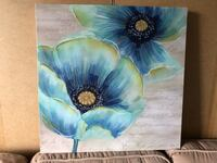 Blue and Green Floral Canvas Artwork Alexandria, 22303