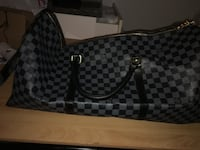 Black and gray louis vuitton duffel bag North Vancouver