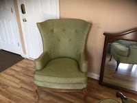 2 antique Green fabric wing back chairs Aberdeen, 21001