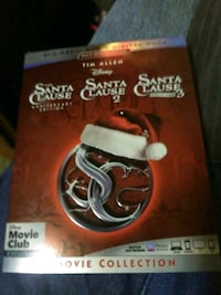 Disney's Santa Clause Anniversary 1,2,3 Blue Ray And Dvd