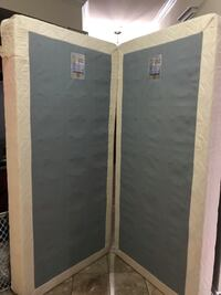 Two Twin Gray and White Box Mattresses Irving, 75061