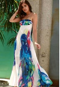 women's blue and pink floral dress Mississauga, L5W 1K8