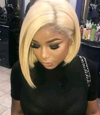 16 inch Lace Front Blac Chyna Bob!! Fort Lauderdale