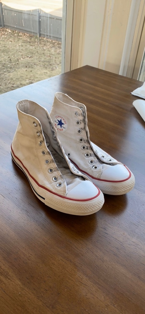 Photo Womens white converse size9