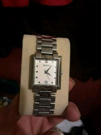 square silver analog watch with link bracelet Phoenix, 85014