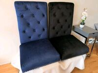 Velvet chairs. New inboxes. Blue or black 150 each Markham, L6B 1B5