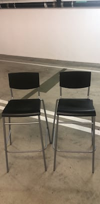 two black-and-gray metal chairs Los Angeles, 90049