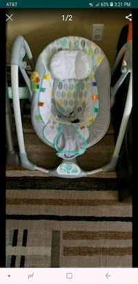 baby's white and gray swing chair Secaucus, 07094