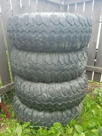 4 black rubber car tires Edmonton, T5W 3X3