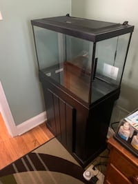 20 Gallon Aquarium with LED light hood and wooden cabinet stand Wilmington, 19805