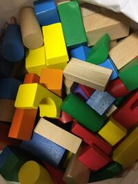 Wood 3D blocks - primary color  Tracy, 95376