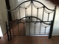 Black Queen size headboard and footboard and rails Fort Worth, 76137
