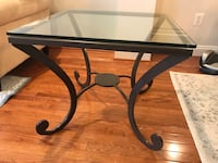 Metal and glass end table (Ethan Allen) 17 mi