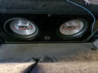 2 10'' mtx audio subs with bassworks box Calgary, T1Y