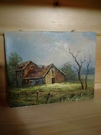 brown wooden house painting