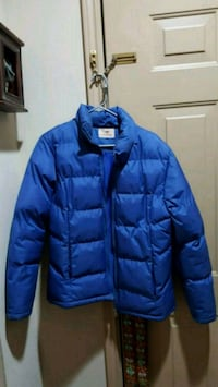blue zip-up bubble jacket Alpharetta