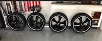 Black 5-spoke car wheel with tire set Palm Coast, 32137