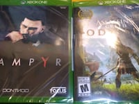 2 new sealed games for Xbox one vampyr + assassin's odessey Toronto, M8Z 1X1