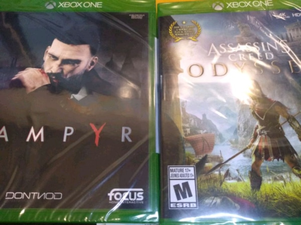 2 new sealed games for Xbox one vampyr + assassin's odessey d06550d8-7ecd-45fe-b793-3d6979320a2b
