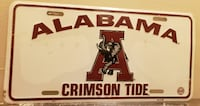 Alabama Crimson License Plate Gaithersburg