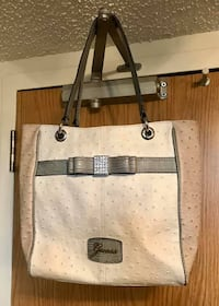 $275+ Retail • GUESS Genuine LEATHER Ostrich-Style Bag With CRYSTALS • $30 FIRM! Winnipeg