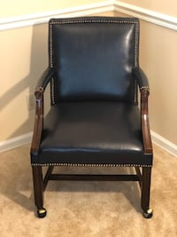 Faux Leather Chair on Wheels