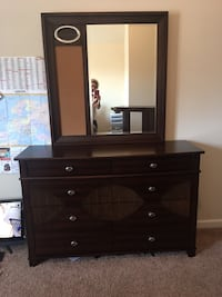 brown wooden dresser with mirror Dacula, 30019