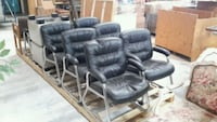 Black leather office chairs Las Vegas, 89118