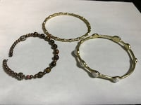 two brown and black beaded bracelets Montreal