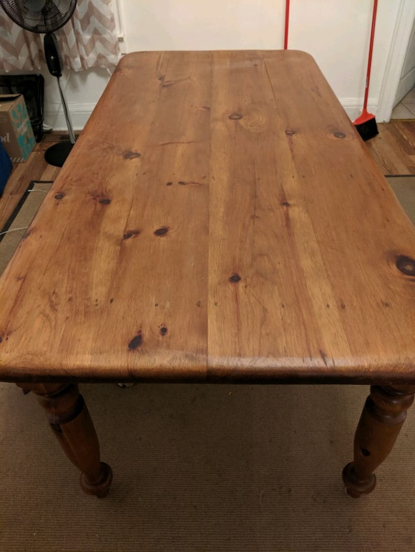Large wooden hand crafted table  d35aafca-d0ba-4719-a9df-724131a8dcf5