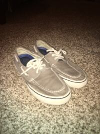 pair of gray-and-white boat shoes Rainsville, 35986