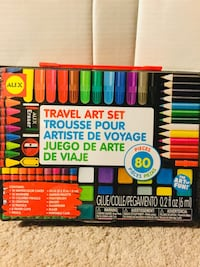 80 Piece Travel art set with carrying case Austin, 78723