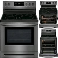 "Nee induction 30"" convection electric range"