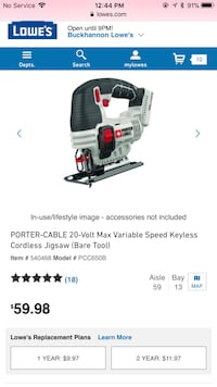 Porter cable 20v jig saw new never used