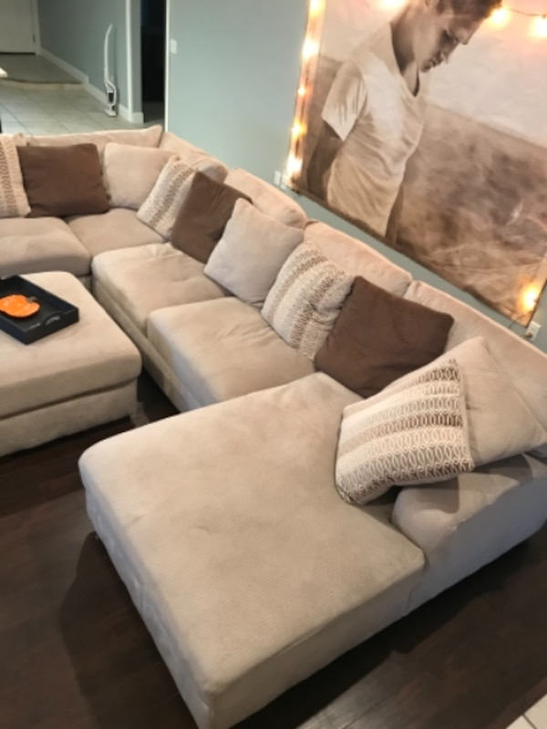 Used Arminio Sectional Sofa Oversized Ottoman From Ashley